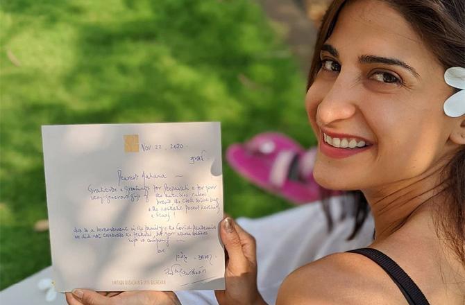 Aahana Kumra elated to receive a handwritten note from Amitabh Bachchan