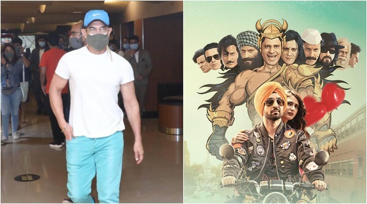 Aamir Khan watches Suraj Pe Mangal Bhari at a theatre