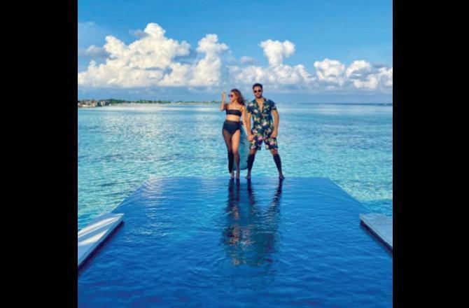 Armaan Jain is on holiday with wife Anissa; Navya Naveli says, 'Chacha chachi take Maldives'