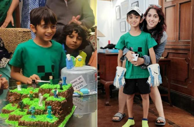Azad Rao Khan turns nine; rings in birthday with sister Ira and a minecraft-themed party