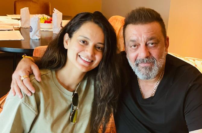 Kangana Ranaut meets Sanjay Dutt, netizens call her 'hypocrite'