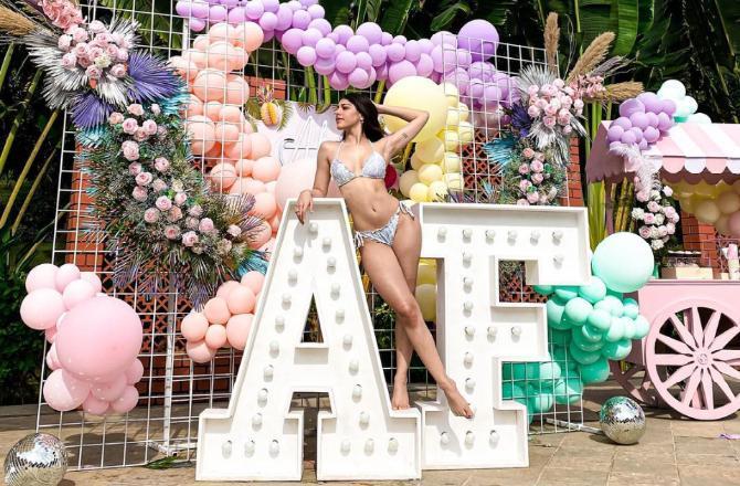 See Photos: Alaya F dazzles in grey bikini as she soaks in sun in Alibaug