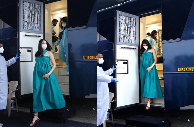 See Photos: Mom-to-be Anushka Sharma is back to Mumbai, starts shooting