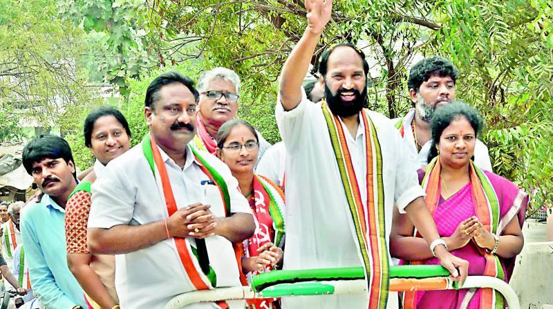 Uttam slams TRS, BJP for linking Covid vaccine to GHMC polls