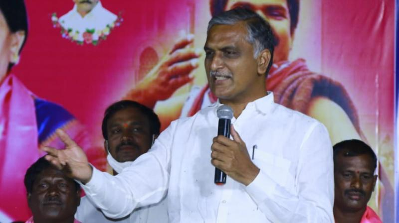 BJP trying to create tension, says Harish Rao