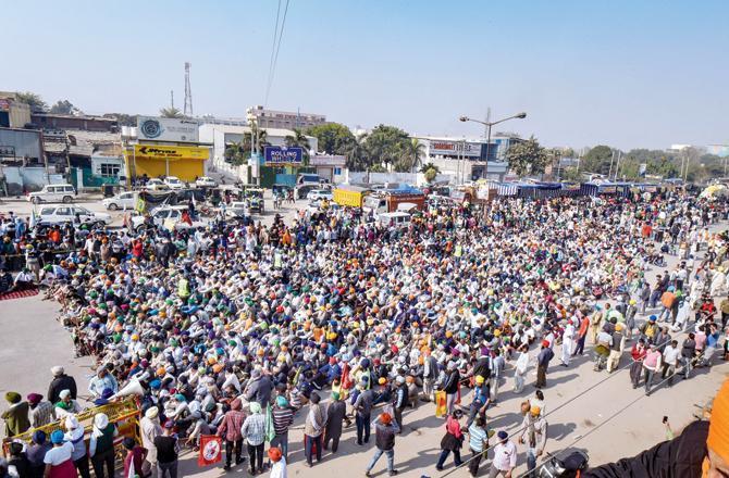 Farmer protest in New Delhi. File Pic