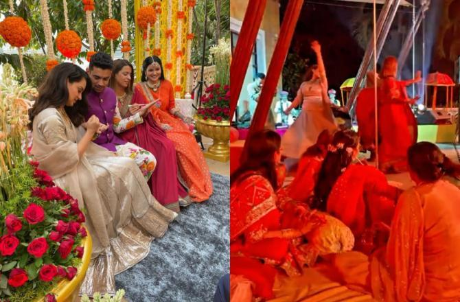 Inside Kangana Ranaut's brother Aksht's wedding: Actress glows at Mehendi ceremony; dances her heart out