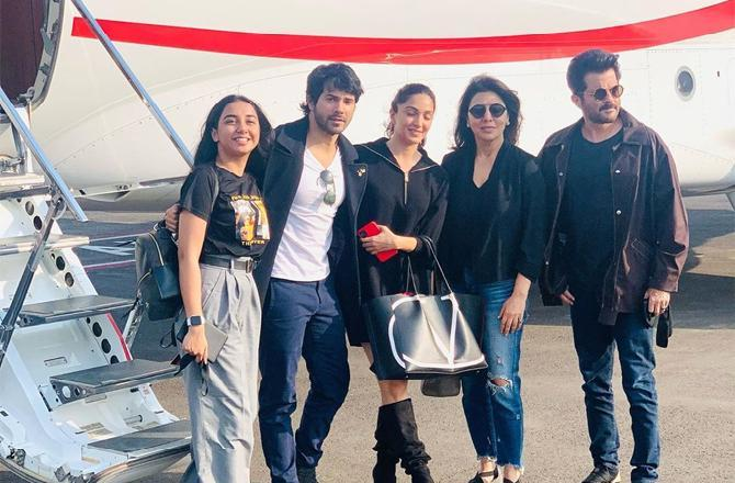 Neetu Kapoor flies off for film shoot with Anil, Varun, Kiara, says 'Nervous for this journey'