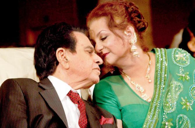 Dilip Kumar and Saira Banu. Image sourced from mid-day archives