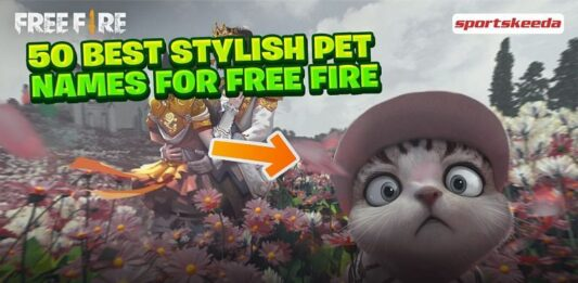 50 best stylish names for pets in Free Fire