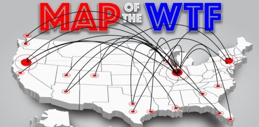 A history of laughable geographical blips in divisional misplacement; aka, the 'Arizona in the NFC East' problem