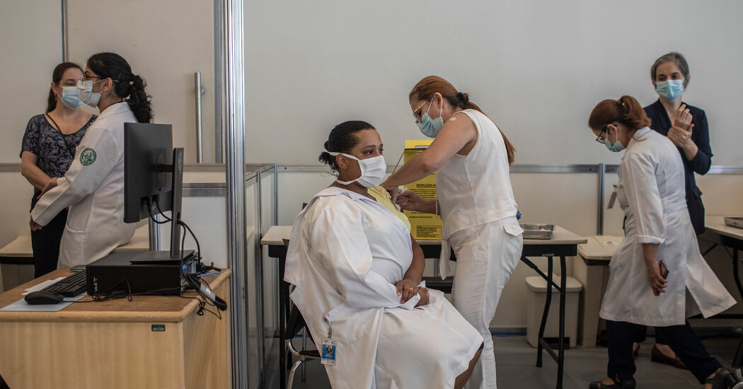 Brazil Starts Vaccinations Amid Rise in Covid Cases and New Variants