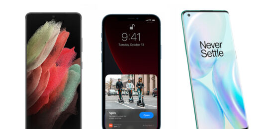 Galaxy S21 Ultra vs. the iPhone 12 Pro Max and the OnePlus 8 Pro