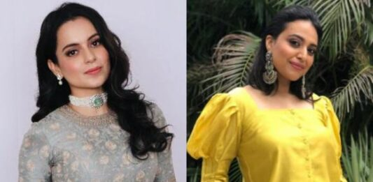 Kangana Ranaut teases Swara Bhasker with a post on 'Class and Crass',  latter replies with a humble tweet