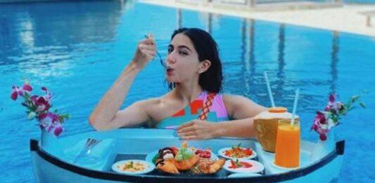 Sara Ali Khan shared pics of herself enjoying a floating breakfast during her Maldives vacay, READ
