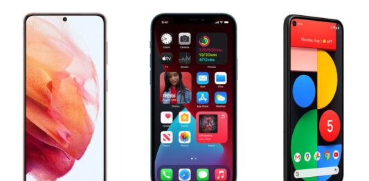The Galaxy S21 vs. the iPhone 12 Pro and the Google Pixel 5