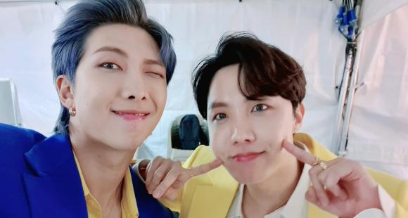 BTS' VMin's acrostic poems and Namseok's handsome blue & yellow suit selcas were the highlights of Hobi's Bday