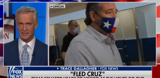 Fox News slams 'Fled Cruz' for Cancun trip: Wants to get power back on 'after he finishes a margarita'