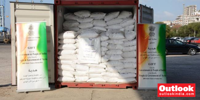 India Gifts 2,000 Metric Tonnes Of Rice To Syria On Humanitarian Grounds