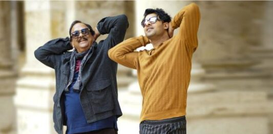 Pic Of The Day: Prabhas and Krishnam Raju take us back in time with Radhe Shyam as they strike a similar pose
