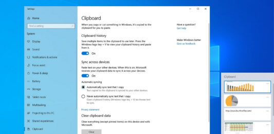 Windows 10 Cloud Clipboard