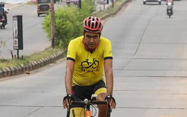 40-year-old clocks 1 lakh km on cycle in seven years