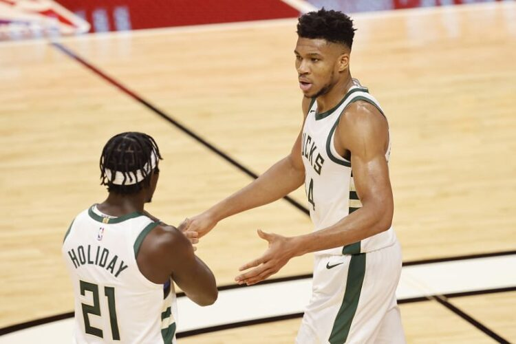 Giannis Antetokounmpo and Jrue Holiday have been in top form for the Milwaukee Bucks.